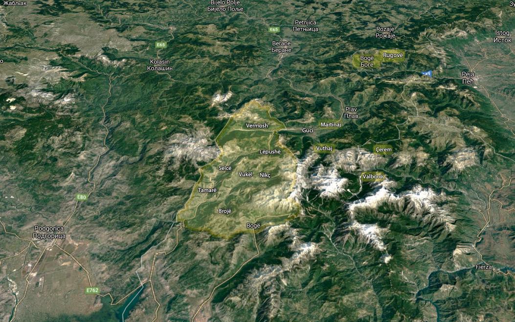 Kelmendi: harta e trojeve kelmendase nga Malësia e Madhe deri në Rugovë.